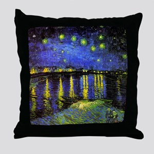 Van Gogh Starry Night Over The Rhone Throw Pillow