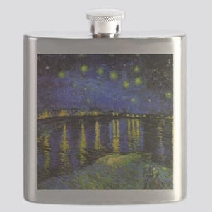 Van Gogh Starry Night Over The Rhone Flask