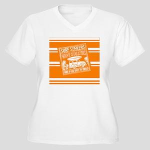 Surf Seekers Women's Plus Size V-Neck T-Shirt