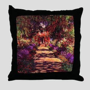 Path In Monets Garden Throw Pillow