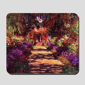 Path In Monets Garden Mousepad