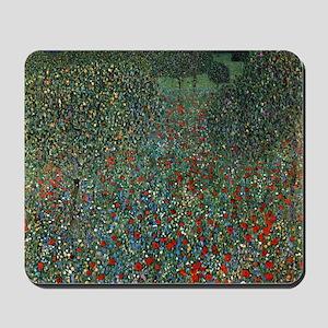 Gustav Klimt Poppy Field Mousepad