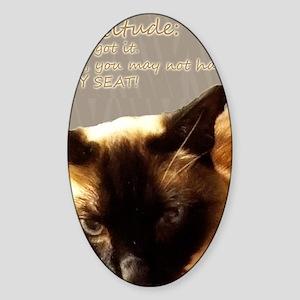 Cattitude Sticker (Oval)