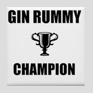 gin rummy champ Tile Coaster