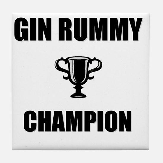 gin rummy champ Tile Coaster