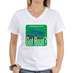 Got Boat? Women's V-Neck T-Shirt