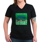 Got Boat? Women's V-Neck Dark T-Shirt
