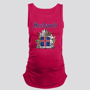 Iceland Coat of Arms Maternity Tank Top
