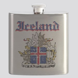Iceland Coat of Arms Flask