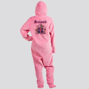 Iceland Coat of Arms Footed Pajamas