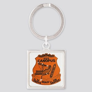 uss canopus patch transparent Square Keychain