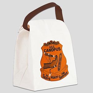 uss canopus patch transparent Canvas Lunch Bag