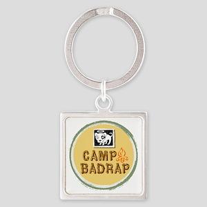 Camp BADRAP! Square Keychain