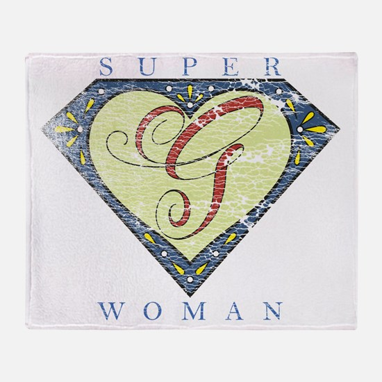 Superwoman G Blue Fade Throw Blanket