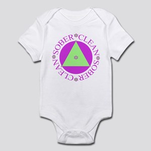 Clean and Sober Circle Flower Triangle Infant Body