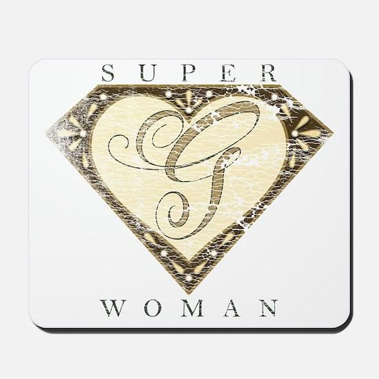 Superwoman G Brn Fade Mousepad