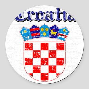 Croatian Coat Of Arms Round Car Magnet