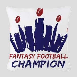 Fantasy Football Champion Woven Throw Pillow