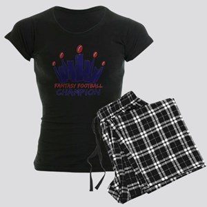 Fantasy Football Champion Women's Dark Pajamas