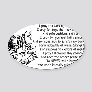 Now I Lay Me Down To Sleep Paws4Cr Oval Car Magnet