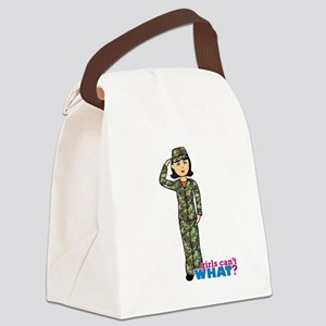 Army Woodland Camo Canvas Lunch Bag