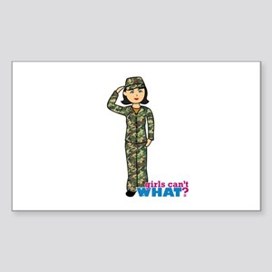 Army Woodland Camo Sticker (Rectangle)
