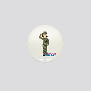 Army Woodland Camo Mini Button