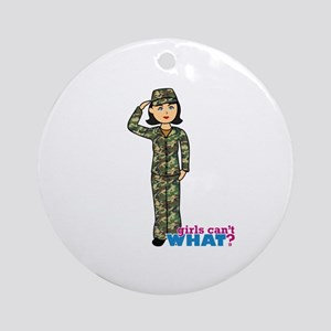 Army Woodland Camo Ornament (Round)