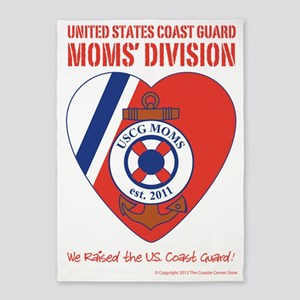 USCG Moms Division (3) 5'x7'Area Rug