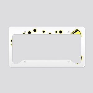 Scuba Blk Yellow License Plate Holder