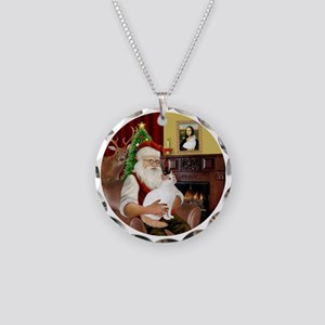 Santa - Turkish Van 52 Necklace Circle Charm