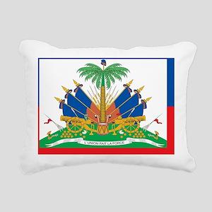 Haiti Flag Rectangular Canvas Pillow