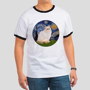 Starry Night-Himalayan Cat (FlamePt) Ringer T