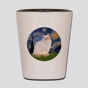 Starry Night-Himalayan Cat (FlamePt) Shot Glass
