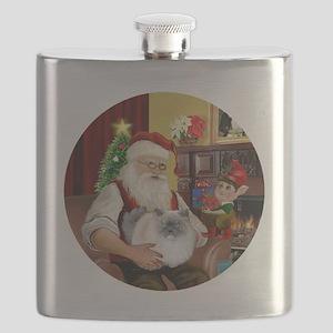 Santa - Himalayan Cat (smoke) Flask