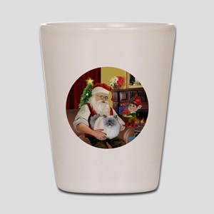 Santa - Himalayan Cat (smoke) Shot Glass