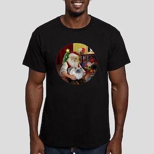 Santa - Himalayan Cat  Men's Fitted T-Shirt (dark)