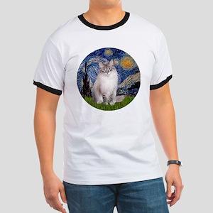 Starry Night - Ragdoll Cat (Lilac bi) Ringer T