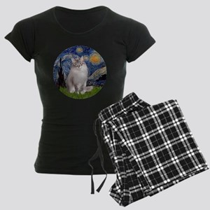 Starry Night - Ragdoll Cat ( Women's Dark Pajamas