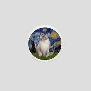Starry Night - Ragdoll Cat (Lilac bi) Mini Button