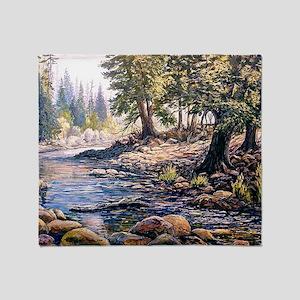 Yosemite Stream Throw Blanket