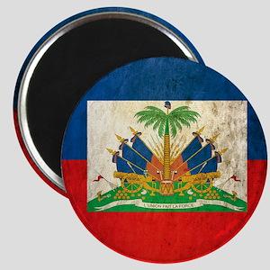 Grunge Haiti Flag Magnet