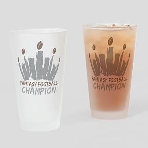 Fantasy Football Champion Drinking Glass