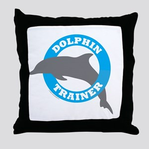 Dolphin Trainer Throw Pillow