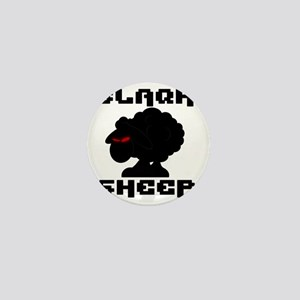 Transparent blaQk Sheep Logo Mini Button
