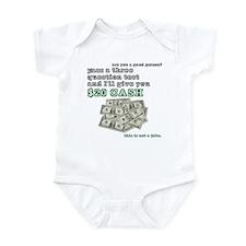 3 question (with cash) Infant Bodysuit