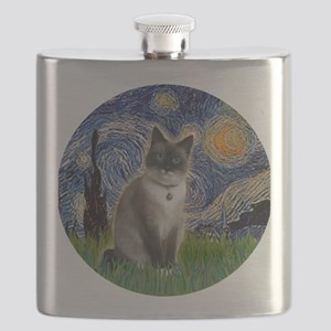 Starry - Snow Shoe Cat Flask
