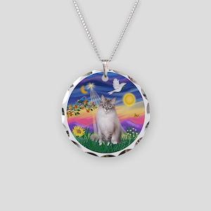 Twilight - Ragdoll (Lilac Bi Necklace Circle Charm