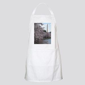 Peal bloom cherry blossom frames Washington  Apron