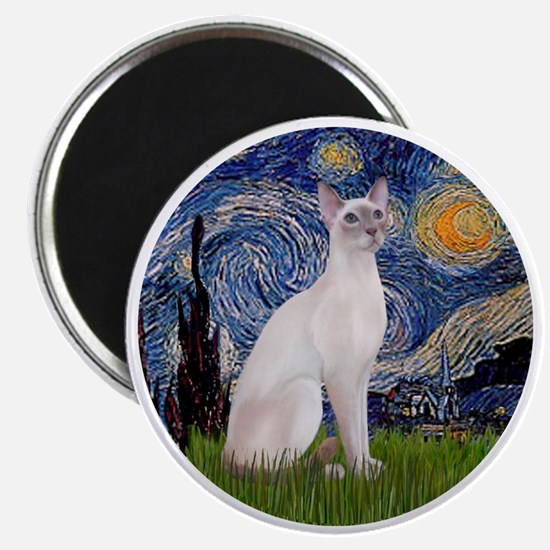 Starry Night - Siamese Cat (LilacPt) Magnet